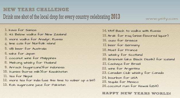 New Year Challenge 2013